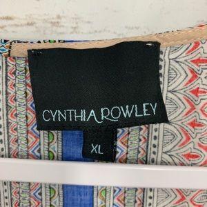 Cynthia Rowley Tops - Cynthia Rowley Paisley Sleeveless Tank Career Top